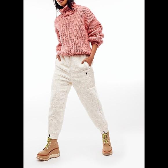 Free People Pants - Free People Movement BFF Solid Fleece Pant Cream